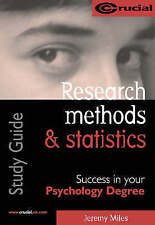 Research Methods and Statistics (Crucial) by Jeremy Miles (Paperback, 2001)