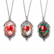Vintage Natural Real Dried Flower Pendant Necklace Handmade Women Jewelry Gift