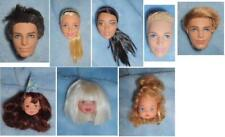 """MATTEL BARBIE Doll HEAD 1/6 Heart Family Kelly Made to Move Ken Fashionista 11"""""""