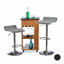 Bar Stool Set of 2, Height-Adjustable Kitchen Counter Chair, Padded, Bistro