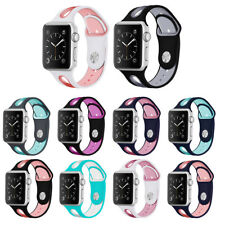 Sports Silicone Replacement Strap Watch Band for Apple Watch Series 3 2 1 38/42