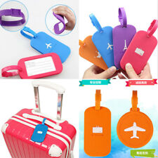 Luggage Tags Labels PVC Plane Tag Name Address ID Suitcase Baggage Labels