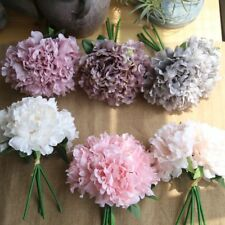 Artificial Real Touch Peony Fake Flower Wedding Home Table Decor Bridal Bouquet