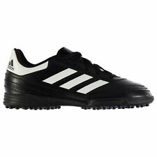 adidas Goletto Astro Artificial Grass Trainers Juniors Soccer Shoes Black/White