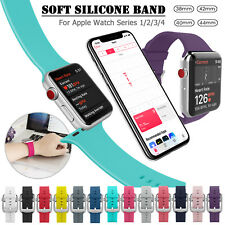 38mm/42mm Silicone Sports iWatch Band Strap Replacement for Apple Watch 1 2 3 4