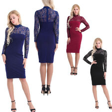 Clearance!! Women Lace Long Sleeve Bodycon Evening Party Pencil Dress Clubwear
