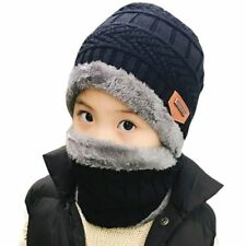 Winter Beanie Knitted Hat Warm Wool Hat And Scarf Kids Girls Boys Hats Beanies