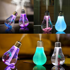 USB Lamp Bulb Humidifier Aroma LED 7Colour Air Diffuser Office Purifier Atomizer