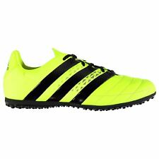 adidas Ace 16.3 Astro AG Artificial Grass Trainers Juniors Yellow Soccer Shoes