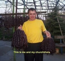 """2 Pounds Real Churchkhela ЧУРЧХЕЛА (""""sausages"""" from grape juice, flour and nuts)"""