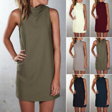 New Summer Dress Large Size High-necked Sleeveless Casual Women Clothing