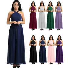 Women Formal Wedding Bridesmaid Long Dress Evening Party Prom Ball Gown Cocktail