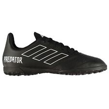 adidas Predator 18.4 Astro Turf Football Trainers Juniors Black Soccer Shoes