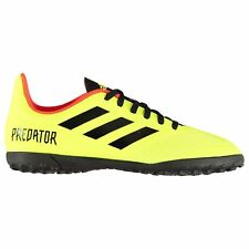 adidas Predator 18.4 Astro Turf Football Trainers Juniors Yellow Soccer Shoes