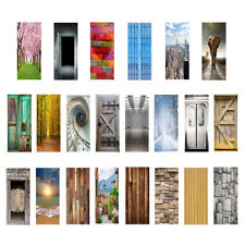 3D Door Sticker Wall Mural Art Poster Stickers Self-Adhesive Removable Decal
