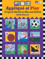 Brand New Bargain Book Applique at Play 19 Sports Blocks Quilting Wittmack