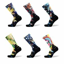 Pro Mens Womens Skull Head Basketball Ankle Socks Coolmax Running Sports Socks