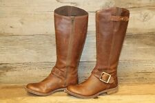 TIMBERLAND SAVIN HILL WOMENS BROWN LEATHER ZIP UP RIDING BOOTS SZ 6