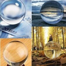 30-100mm Clear K9 Crystal Photography Lens Ball Photo Prop Background Home Decor