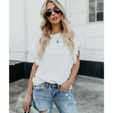 Tops t-shirt Women long sleeve blouse chiffon lace summer floral casual new