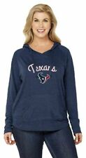 NFL Houston Texans Womens Curvy Pullover Hoodie in Team Colors - Plus Sizes