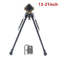 "13"" to 21"" Rifle Bipod Adjustable Spring Return Sniper Hunting with/O Rail Mount"