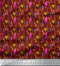 Soimoi Fabric Leaves & Orchids Floral Printed Craft Fabric by the Yard - FL-874A