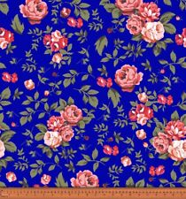 Soimoi Rose Floral Printed 115 GSM Viscose Rayon Fabric By The Yard 58 Wide