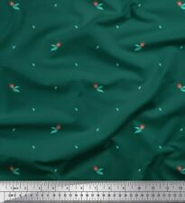 Soimoi Fabric Leaves & Tulip Floral Printed Craft Fabric by the Yard - FL-1702E