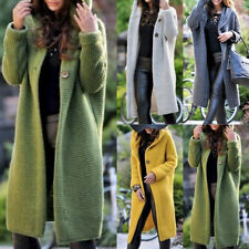 Womens Long Sleeve Knitted Cardigan Sweater Jacket Casual Outwear Coat Plus Size