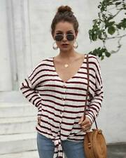 T-Shirt Pullover Knit Shirt Womens Jumper Long Sleeve Sweater Loose Knitted