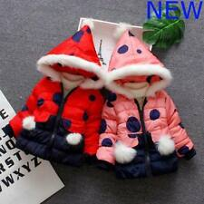 Winter Kids Baby Clothes Sweater Girls Hoodie Outerwear Coat Toddler Jacket