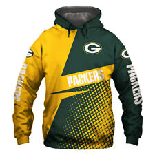 Green Bay Packers Hoodie Hooded Pullover S-5XL Football Team Fans NEW Designs