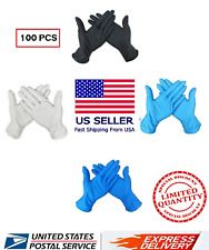 ANTI-VIRUS Disposable Rubber Protective Comfortable Medical Safe Gloves US STOCK