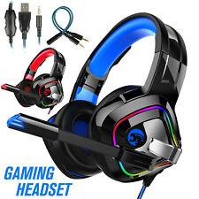 3.5mm LED Stereo Surround Gaming Headset Mic Headphone for PS5/Xbox one/Nintendo