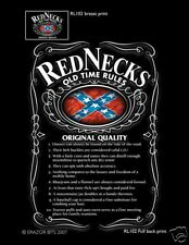 REDNECK RULES OLD TIME SOUTHERN NEW T SHIRT