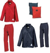 Kids Childrens Childs Waterproof Jacket & Trousers Suit