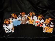 Jungle mini diaper cake lion zebra tiger giraffe elephant monkey baby shower