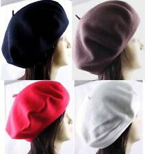 100% Wool Beret French Artist Beanie Hat Cap 15 Colors