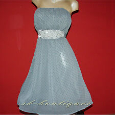 NEW SEXY MISO REPUBLIC GREY POLKADOT DRESS 6 8 10 12