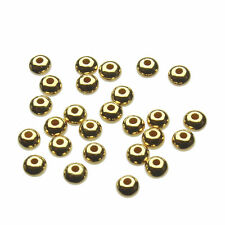 Gold Plated 925 Sterling Silver 3mm Flat Saucer Beads