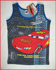 New DISNEY CARS Vest SINGLET Tank Top  McQUEEN Sz 2 3 4
