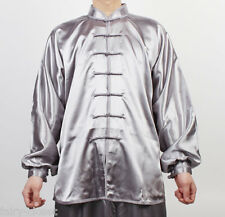 Wushu TaiChi Uniform KungFu uniforms China Tai chi Chuan Chinese Kung Fu Silver
