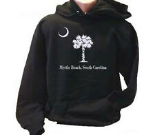 Palm Tree and Moon Myrtle Beach SC Adult Hoodie