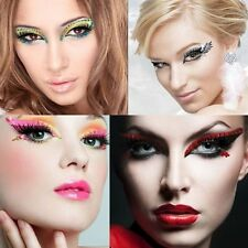 Xotic Eyes Reusable Adhesive Burlesque Crystal Rave Dance Glitter Eye Makeup Kit