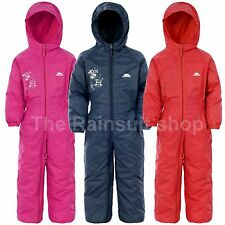 TRESPASS DRIPDROP WATERPROOF ALL IN ONE  SNOW/RAINSUIT BOY OR GIRL 6M TO 8 YRS