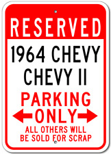 1964 64 CHEVY CHEVY II Parking Sign