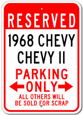 1968 68 CHEVY CHEVY II Parking Sign