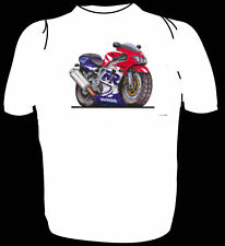 KOOLART TSHIRT - HONDA FIREBLADE - RED/WHITE - 6 SIZES