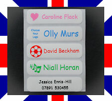 50 Iron on Name Labels, Tapes, School Clothing Tags